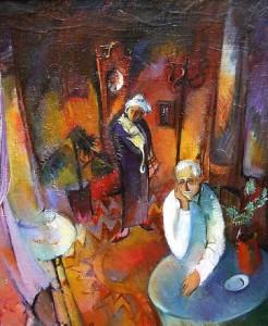 Alte Menschen - Öl auf Leinwand 80 x 65 cm - 1986 - Preis: 900 €