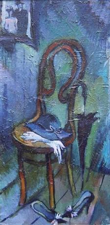 Erinnerung - Öl auf Leinwand 68 x 34 cm - 1986 - Preis: 700 €