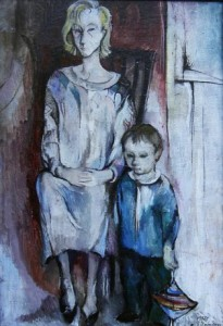 Kühle Mutter - Öl auf Leinwand 130 x 70 cm - Preis: 1.200 €