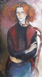 Golda - Öl auf Leinwand 99 x 34 cm - 1989 - Preis: 800 €