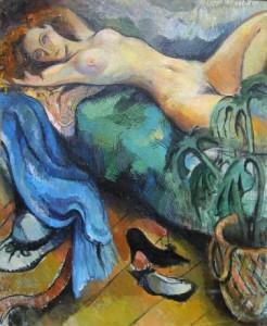 Palestra - Öl auf Leinwand 115 x 80 cm - 1990 - Verkauft