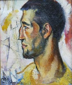 Portrait eines Bildhauers - Öl auf Leinwand 49 x 41 cm - 1990 - Preis: 1.000 €