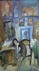 Depression - Öl auf Leinwand 100 x 59 cm 1991 - Unverkäuflich