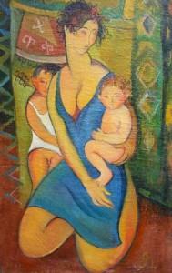 Die Mutter - Öl auf Leinwand 121 x 74 cm - 1991 - Preis: 800 €
