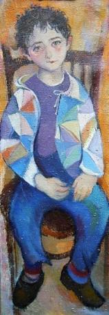 kleiner Junge - Öl auf Leinwand 99 x 34 cm - 1994 - Preis: 1.800 €