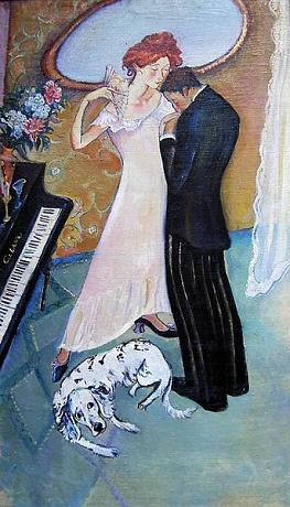 Romantik - Öl auf Leinwand 120 x 60 - 2001 - Preis: 1.300 €
