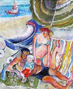 Sonnenschein Gouache auf Papier 39 x 48 cm - 2003 - Preis: 900 €