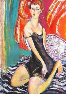 Lola Gouache Aquarell auf Papier 64 x 88 cm - 2004 - Preis: 2.200 €