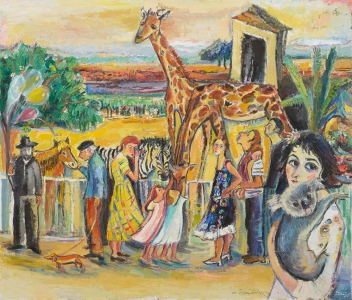 Unser Zoo - Öl auf Leinwand - 2007 - Preis: 2.600 €