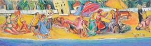 Ureki - Öl auf Leinwand 120 x 40 cm - 2005 - verkauft