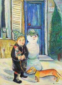 Wintermärchen - Öl auf Leinwand 120 x 88 cm - 2005 - unverkäuflich