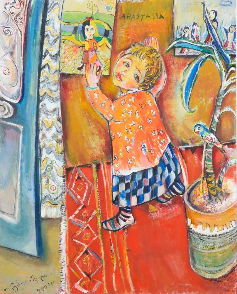 Anastasia - - Öl auf Leinwand 80 x 100 cm - 2004 - Preis 2.200 €